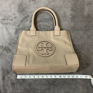 Tory Burch Ella Logo Studded Nylon Bag